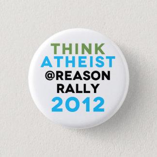 Denk de Knoop van de Verzameling van de Atheïst Ronde Button 3,2 Cm