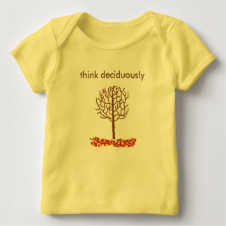 denk deciduously - een t-shirt over het denken