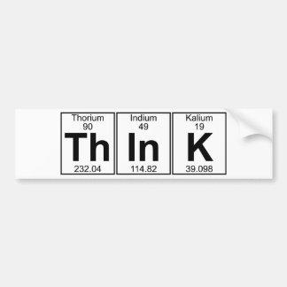Denk (denk) - Hoogtepunt Bumpersticker