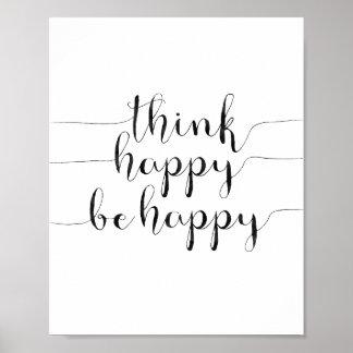 Denk Gelukkig Gelukkig is Poster