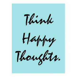 Denk Gelukkige Gedachten Briefkaart