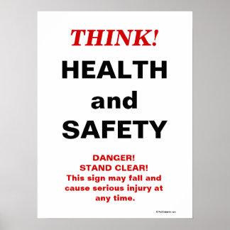 DENK Gezondheid en Veiligheid - het Gekke Teken Poster