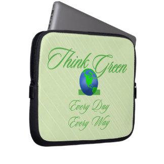Denk Groen Laptop van Neopreen 2 Sleeve 10 duim