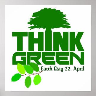 Denk Groen poster