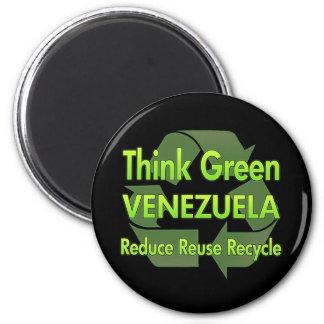 Denk Groen Venezuela Magneet