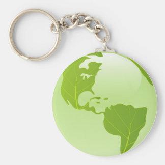 denk groene keychain basic ronde button sleutelhanger
