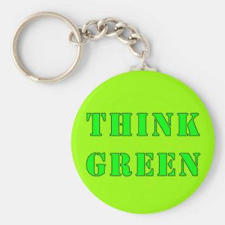 Denk Groene Keychain Sleutelhanger