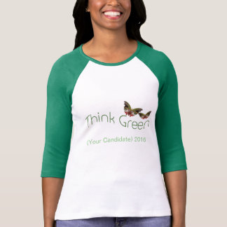 Denk Groene, klantgerichte de campagnet-shirt van T Shirt