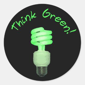 Denk Groene Sticker