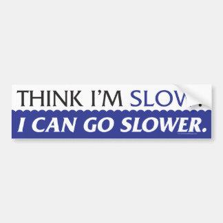 Denk Ik - de Sticker van de Bumper Langzaam ben