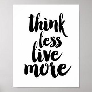 Denk meer minder levend poster