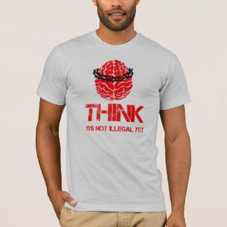 Denk… nog zijn niet onwettig overhemd t shirt