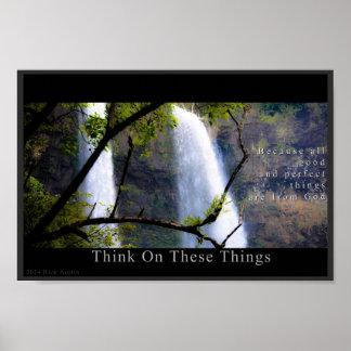 Denk op Deze Dingen - de Inspiratie van de Natuur Poster