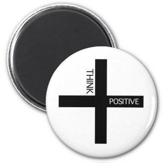 Denk Positief Ronde Magneet 5,7 Cm