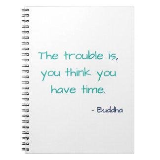 Denk u Citaat van de Wijsheid van de Tijd het Notitieboek