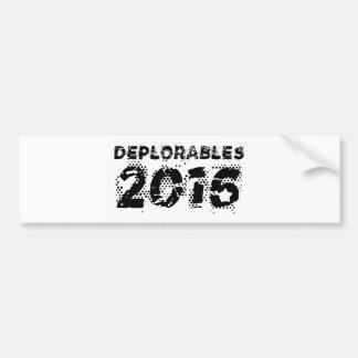 Deplorables 2016 bumpersticker