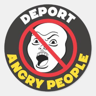 DEPORTEER BOZE MENSEN! Anti Gemiddelde Mensen Ronde Sticker