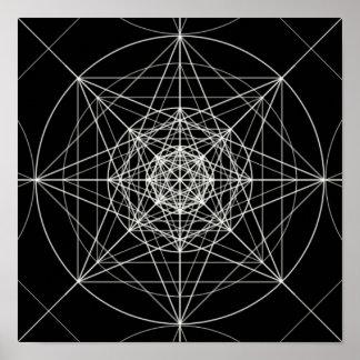Derde Dimensionale Heilige Meetkunde Poster