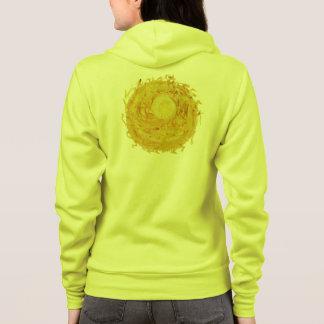 derde-zonne de gele zonnestraal van vlechtchakra hoodie
