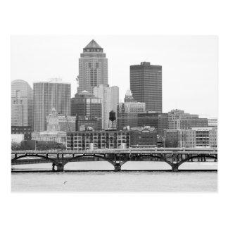 Des Moines in B&W Briefkaart