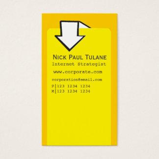 Design Van de bedrijfs pijl het Collectieve van de Visitekaartjes