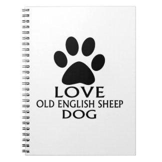 DESIGN van de Hond van de SCHAPEN van de LIEFDE Ringband Notitieboek