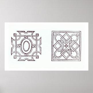 Design voor een knooptuin, van het 'Buitenhuis Poster