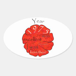 Dessalinia - Jaar 1975 Ovale Sticker