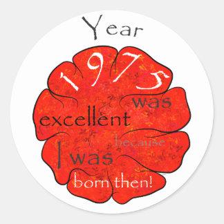 Dessalinia - Jaar 1975 Ronde Sticker