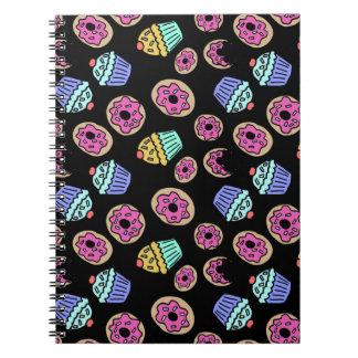 Dessert Cupcakes en Donuts Ringband Notitieboek