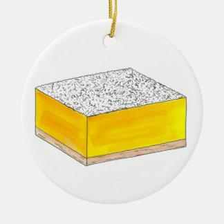 Dessert van het Gebakje van de Bar van de citroen Rond Keramisch Ornament