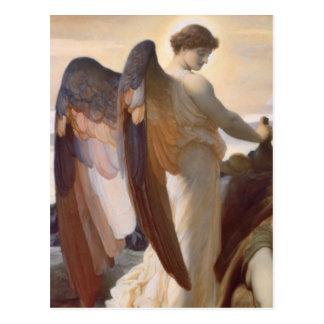 """Detail van Engel, """"Elijah in de Wildernis """" Briefkaart"""