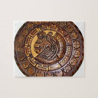 Detail van Oude Mayan Kalender Puzzel