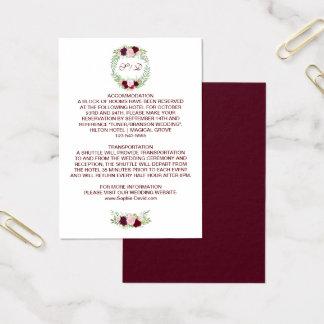 Details van het Huwelijk van de Kroon van de Visitekaartjes