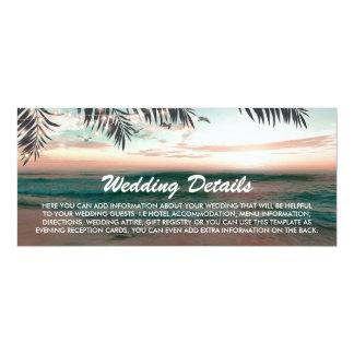 Details van het Huwelijk van het Strand van de Kaart