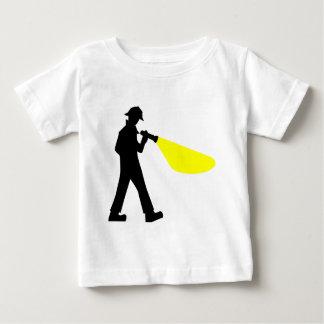 Detective met Flitslicht Baby T Shirts