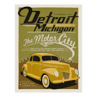 Detroit, MI Briefkaart