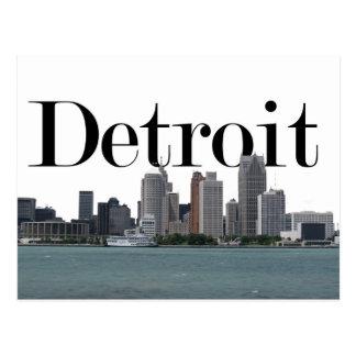 Detroit MI Horizon met Detroit in de Hemel Briefkaart