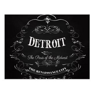 Detroit Michigan - Parijs van het Midwesten Briefkaart