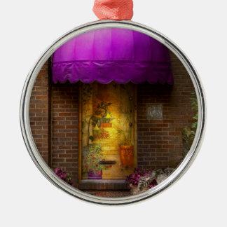 Deur - de deur aan sprookjesland zilverkleurig rond ornament