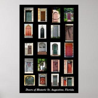 Deuren van Historische St. Augustine, Florida Poster