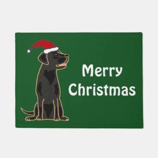 Deurmat van Kerstmis van de Labrador van de pret