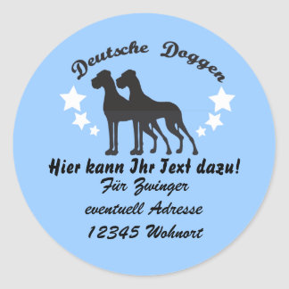 Deutsche Doggen Ronde Sticker