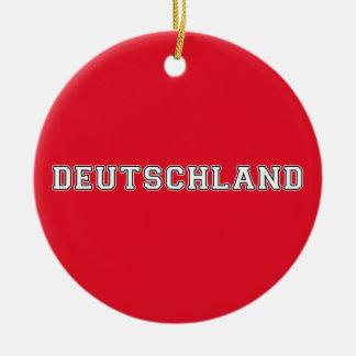 Deutschland Rond Keramisch Ornament