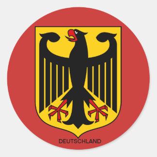 Deutschland Wappen Großer Aufkleber Ronde Sticker