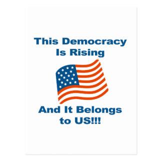 Deze Democratie neemt toe en het behoort tot ons! Briefkaart