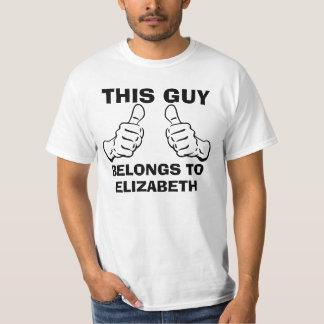 Deze Kerel behoort om Naam in te gaan om te T Shirt