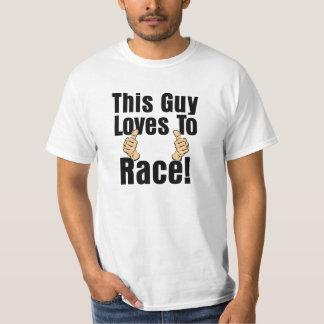 Deze Kerel houdt van Duimen op Mannen T-shirt te