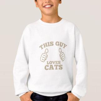 Deze Kerel houdt van Katten Trui