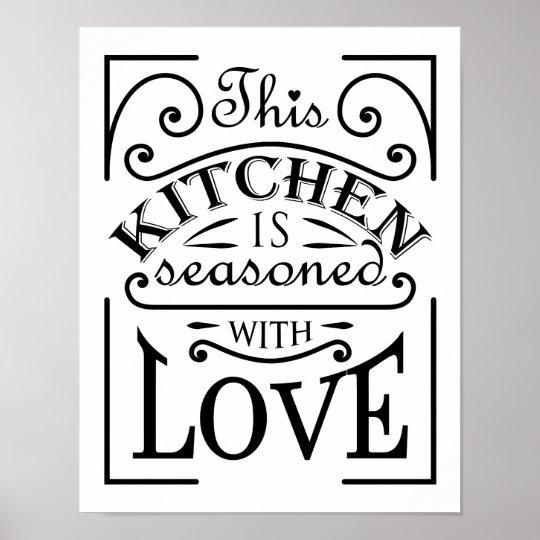 Deze keuken is gekruid met het ontwerp van het poster